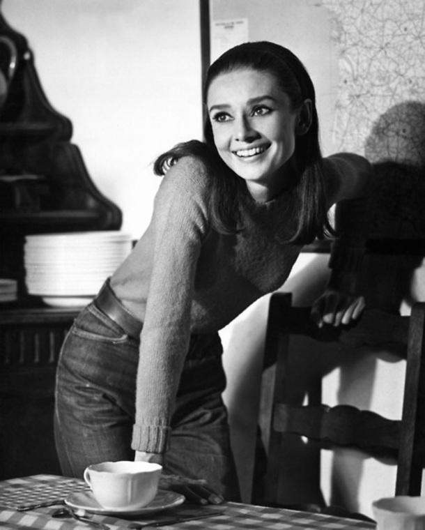 Audrey Hepburn candid